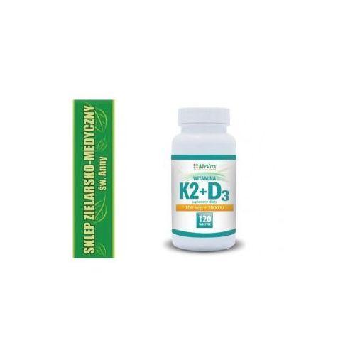 WITAMINA K2+D3 W TABLETKACH 120 SZTUK Kuracja na 4 miesiące - produkt farmaceutyczny