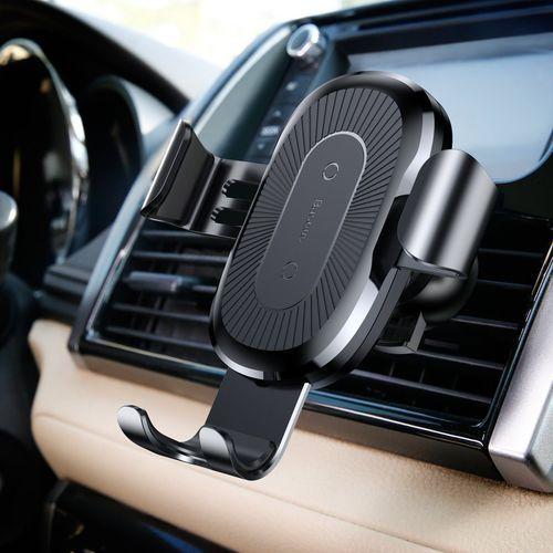 Uchwyt samochodowy z ładowarką indukcyjną gravity car mount black marki Baseus