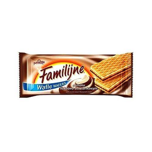 Wafle Familijne kakaowo-śmietankowe 180g Jutrzenka