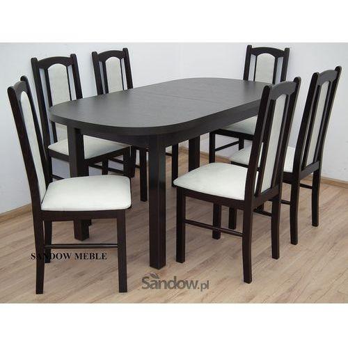 Zestaw, stół plus 6 krzeseł, Okazja z kategorii zestawy mebli kuchennych