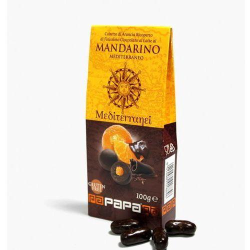 mediterranei mandarinki w mlecznej czekoladzie z nutą mandarinki 100 g marki Papa