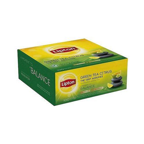Herbata green tea citrus, 100szt. marki Lipton