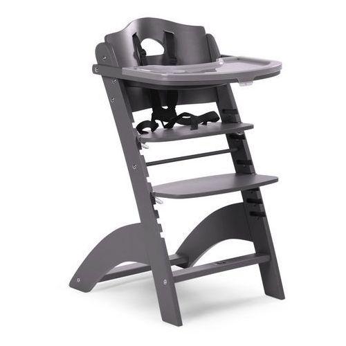 Childhome Krzesełko drewniane do karmienia dla niemowląt lambda 2 - antracyt -
