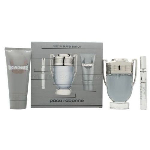 Paco Rabanne Invictus woda toaletowa 100 ml + woda toaletowa 10 ml + szampon do ciała 100 ml
