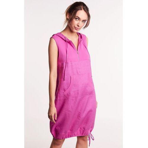 00562ce080 Lara fabio Lniana sukienka z kapturem 239