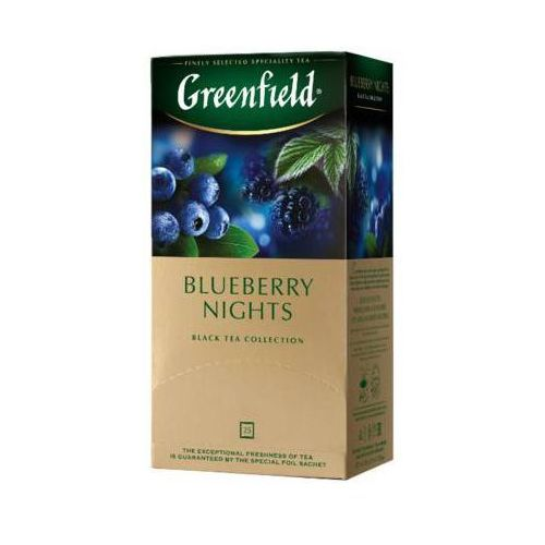 GREENFIELD 25x1,5g Blueberry Nights Herbata czarna Ekspresowa