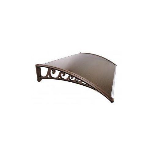 Zadaszenie Drzwi Klasyczne - brązowa płyta, brązowy wspornik, DF92-141E9_20190124103026