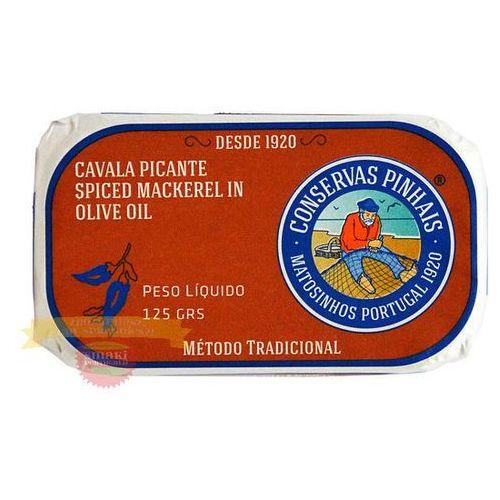 Pinhais Portugalska mini makrela pikantna w oliwie z oliwek 125g (5601268100096)