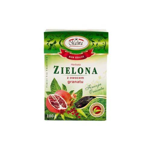 Malwa herbata zielona z owocem granatu 100 gram marki Malwa tea