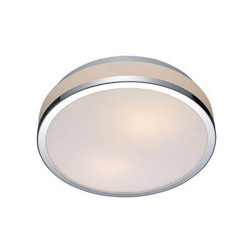 Plafon LAMPA sufitowa CAMRY 5007-S Italux okrągła OPRAWA łazienkowa IP44 chrom biała (5900644405573)
