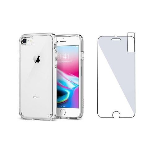 Zestaw   Spigen SGP Ultra Hybrid 2 Crystal Clear   Obudowa + Szkło ochronne Perfect Glass dla modelu Apple iPhone 7 / 8