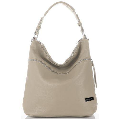 f2c0642c9795a uniwersalne włoskie torebki damskie skórzane do noszenia na co dzień  ziemiste (kolory) marki Vittoria gotti 269