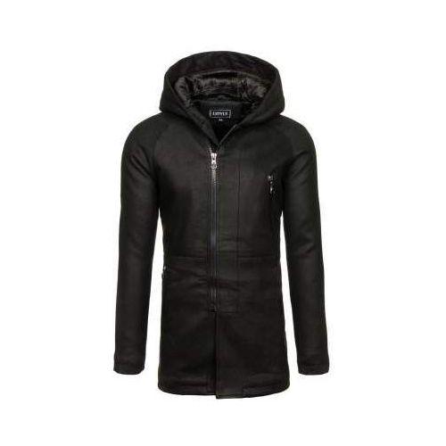 Płaszcz męski zimowy czarny Denley 3128, zimowy