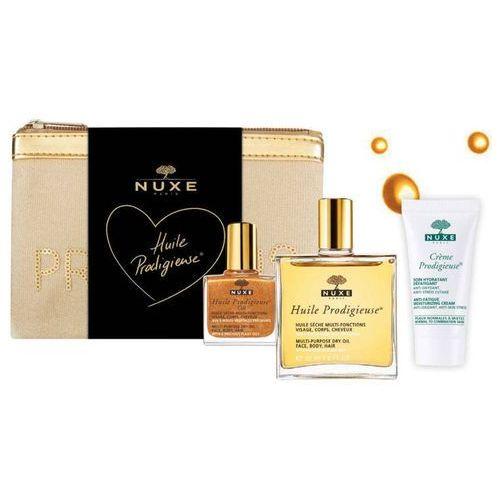 zestaw huile prodigieuse suchy olejek 50ml + miniprodukty i kosmetyczka prodigieuse w prezencie! marki Nuxe