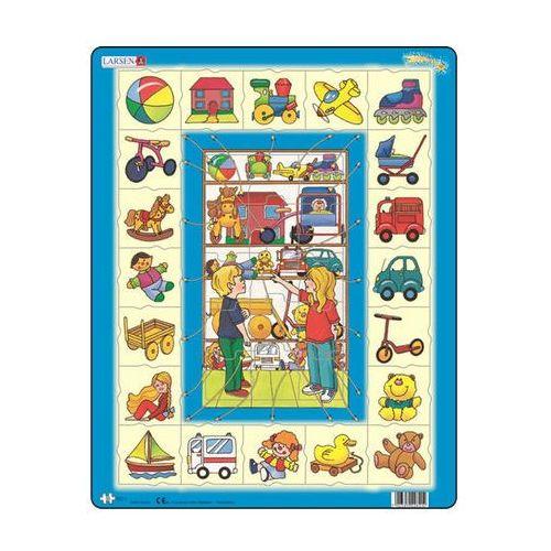 Neuveden Puzzle maxi - přiřaď k sobě - hračky/35 dílků