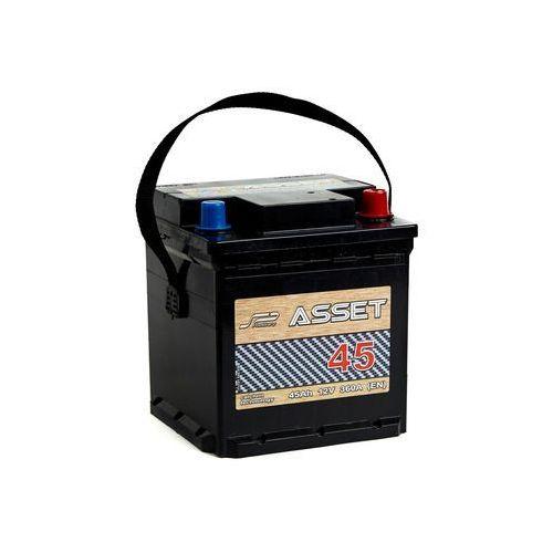 Akumulator ASSET 45Ah 360A P+ KOSTKA
