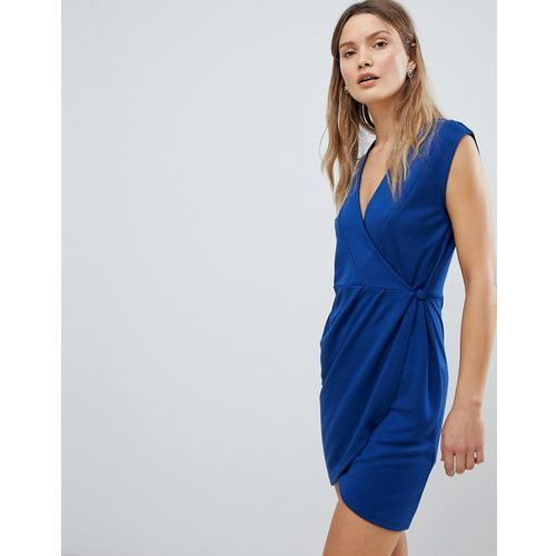 French connection sub manhattan wrap dress - blue