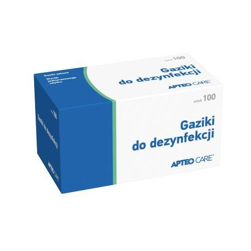 Synoptis pharma Apteo care gaziki do dezynfekcji x 100 sztuk