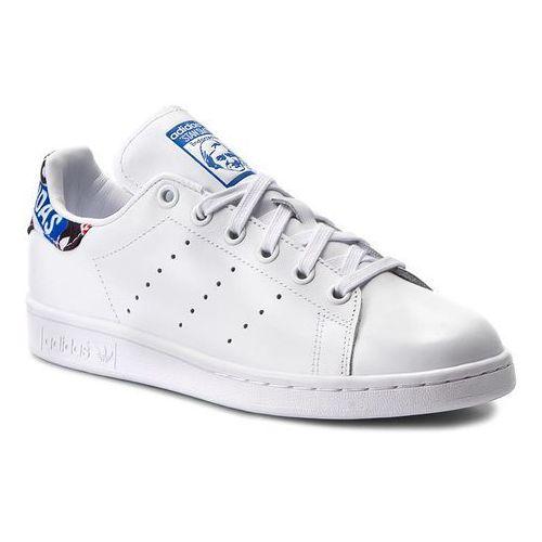 Buty adidas - Stan Smith CP725 Ftwwht/Blue/Cblack, kolor biały
