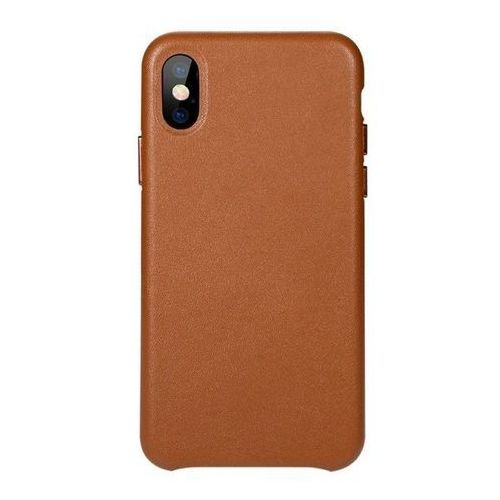 Benks Etui eleleat leather case iphone x brown