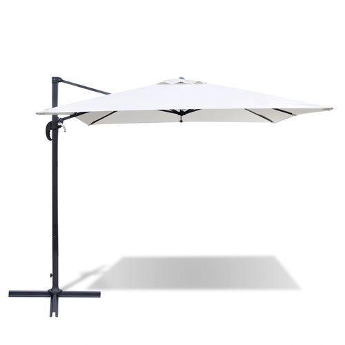 vidaXL Kwadratowy parasol rzymski w kolorze białego piasku 2,5 x m