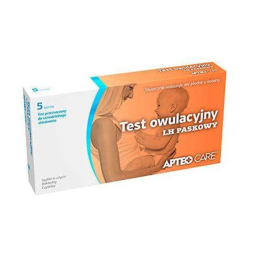 Synoptis pharma Apteo care test owulacyjny lh paskowy x 5 sztuk w opakowaniu