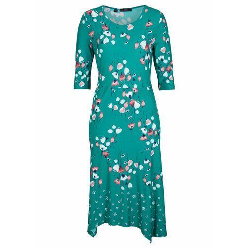 Sukienka shirtowa, krótki rękaw mentolowy niebieski marki Bonprix