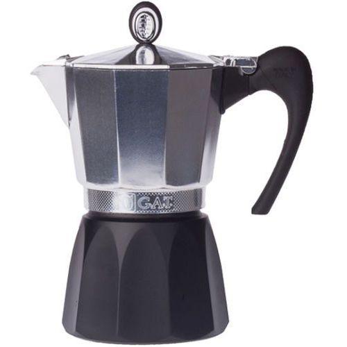G.a.t. Duża kawiarka aluminiowa diva 6 filiżanek, czarna