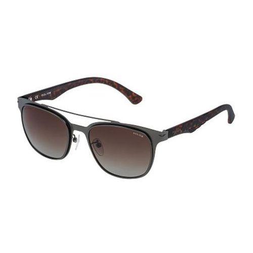 Police Okulary słoneczne spl356 blackbird light 1 polarized 627p