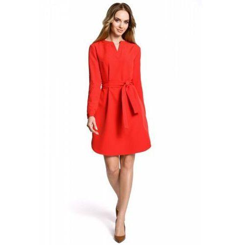 2d833978bb3245 m361 sukienka czerwona, Moe 116,31 zł Poczuj się swobodnie i kobieco w tej  niezwykłej sukience o fasonie koszulowym, przewiązanej nonszalancko  paskiem, z.