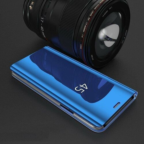Clear View Case futerał etui z klapką Samsung Galaxy A70 czarny (7426825367563)
