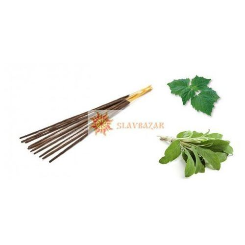 Kadzidełka aromatyczne szałwia i paczuli (patchouli), 100% naturalne, marki Aromatika