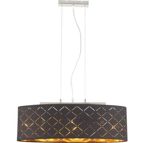 Globo Lampa wisząca clarke 15229h2 lampa sufitowa zwis 3x60w e27 czarna / złota (9007371361014)