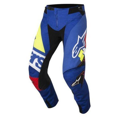 Spodnie alpinestars techstar factory s8 bl/r/wh/ye marki Alpinestars mx