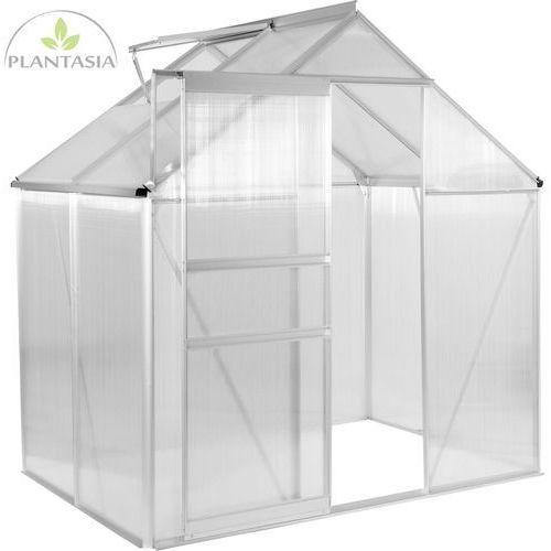 Plantasia ® Szklarnia ogrodowa aluminiowa 130x190x195cm 6mm (30060339)