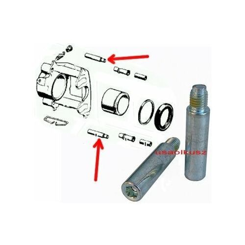 Zestaw prowadnic zacisku hamulcowego chrysler voyager -2007 marki Betterbrakeparts