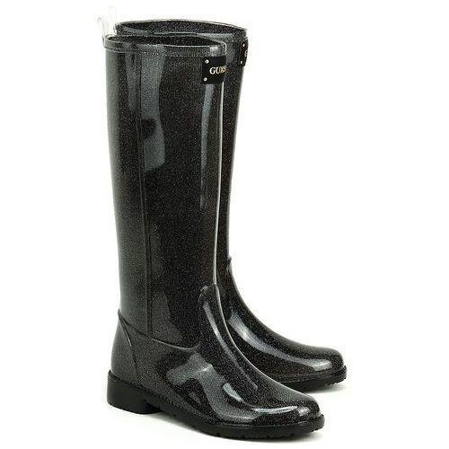 Ribby - Czarne Gumowe Kalosze Damskie - FL1RBYRUB12 BLACK (kalosz damski) od MIVO Shoes Shop On-line