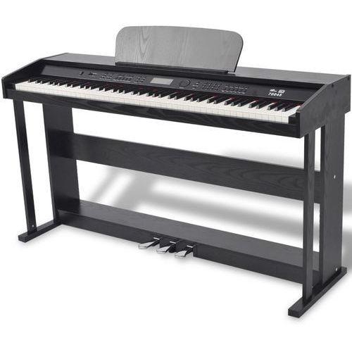 Vidaxl 88 klawiszy pianino cyfrowe z pedałami czarna płyta melaminowa (8718475957249)