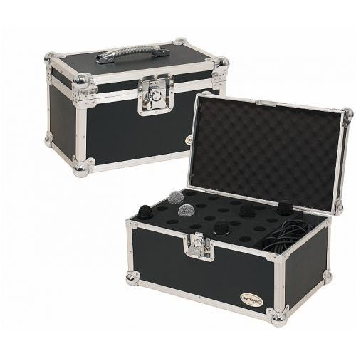 Rockcase RC-23221-B Flight Case - for 20 Microphones, incl. Accessory Compartment, futerał na mikrofony i akcesoria