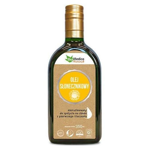Olej słonecznikowy z pierwszego tłoczenia nierafinowany 350ml