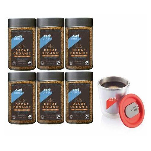 kawa rozpuszczalna 6x bio bezkofeinowa 100 g + kubek nierdzewny 200 ml marki Cafédirect