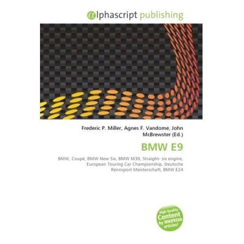 Kniha BMW E9 (9786130765095)