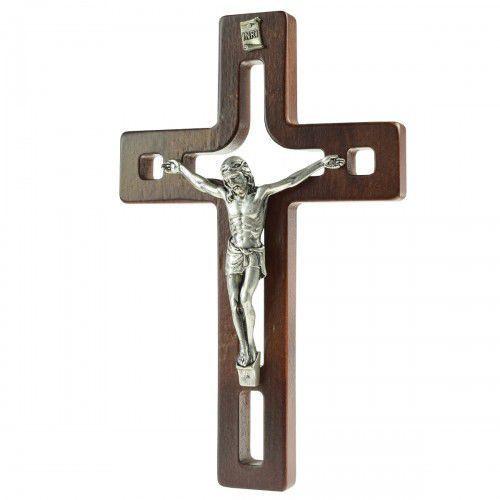 Produkt polski Nowoczesny krzyż drewniany z wycięciami