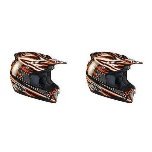 Lazer Kask motocyklowy mx6 tribal x czarny/pom.