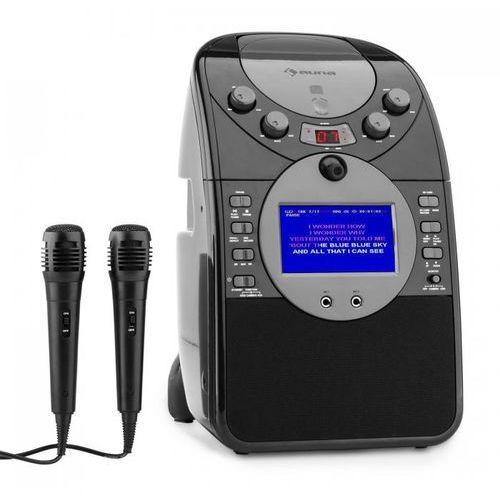 ScreenStar Zestaw karaoke Kamera CD USB SD MP3 z 2 x mikrofon czarny