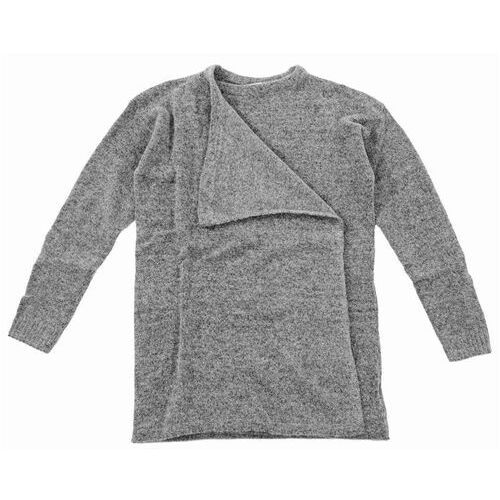 sweter ICHI - Knitted cardigan Grey Melange (10020), kolor szary