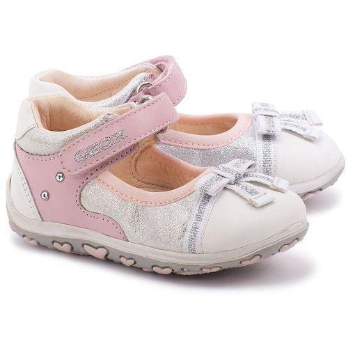 Bambino Bubble - Białe Skórzane Baleriny Dziecięce - B42E6D 043DR C0814 ze sklepu MIVO Shoes Shop On-line
