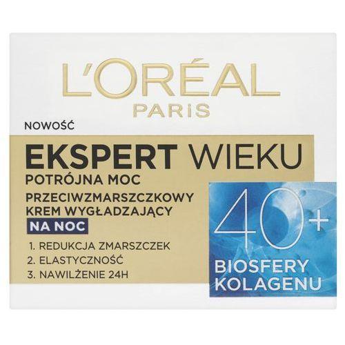 paris expert wieku 40+ przeciwzmarszczkowy wygładzający krem do twarzy na noc 50 ml marki Loreal