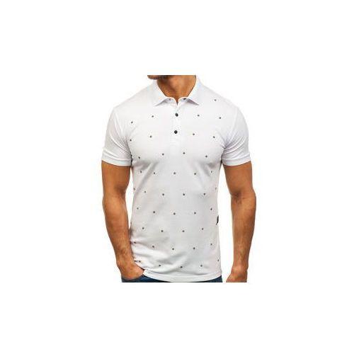 Mechanich Koszulka polo męska biała denley 2056