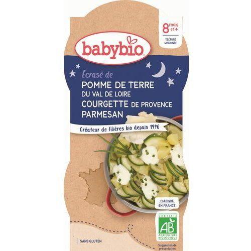 Danie na dobranoc ziemniak z cukinią i parmezanem od 8 miesiąca bezglutenowe BIO 2x200 g BabyBio